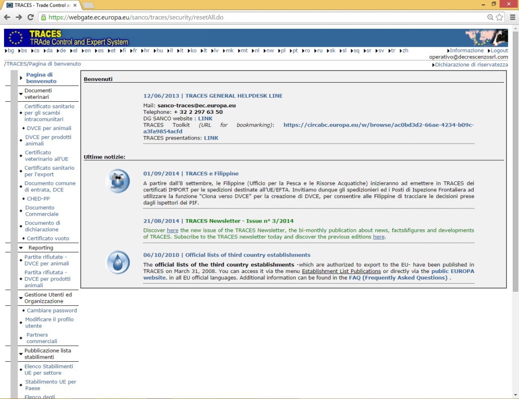 Piattaforma delle certificazioni